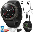 Garmin fenix 6X Multisport GPS Smartwatch (Gray) +JBL Under Armour Heart-Rate (B