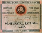 Fritzsche Brothers Vintage Mysore Sandalwood Oil 68 Years Old Rare Essential