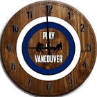 Large Wall Clock Play Hockey In Vancouver Bar Sign