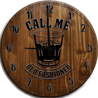 Large Wall Clock Old Fashioned Rocks Glass Bar Sign
