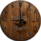 Large Wall Clock Italian Winery & Bistro Mountains Bar Sign