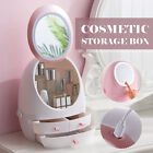 LED Mirror Digital Makeup Cosmetic Organizer Storage Display Boxes Case Beauty