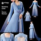Frozen 2 pz Elsa Vestito Costume Carnevale Bambina e Donna Woman Dress FROZ050