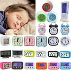 Digital Smart Alarm Clock Mini Quartz Night Analog Bedside Calendar Snooze Decor