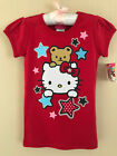 Hello Kitty Size 4 5 Red Short Sleeve Tee Top Girls Clothes Patriotic