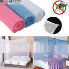 US New Lace Bed Mosquito Net 4 Corner Bed Canopy Princess Full Size Futon Net image