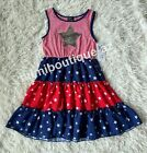 Pink & Violet Girl's Reversible Sequin Star Dress Patriotic 4th of July Red Navy