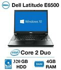 DELL LAPTOP LATITUDE E6500 2.4ghz 4GB 320GB SATA 15.4  HD DVD WINDOWS 10 WiFi