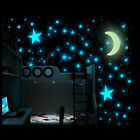 100Pcs 3D Stars Glow In The Dark Luminous Fluorescent Wall Stickers Home Decal