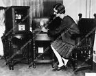 2373-022 woman models very antique Television sets from 1930 2373-22 2373-022 picture