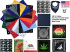 Bandana 100% Cotton Double-Sided Print Safety Face Mask Gaurd Skull Camo Solid
