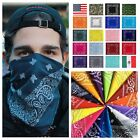 Paisley Bandana 100 Cotton FaceMask Head Wrap Cover HandkerChief Bandanas Scarf