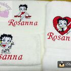 """Personalised Embroidered Bath Towel  """"Betty Boop"""" First name FREE $42.99 AUD on eBay"""