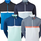 FootJoy Golf Colour Blocked Chill-Out Mens Pullover - Athletic Fit