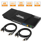 TESmart 2 Port HDMI KVM Switch Switcher 3840x2160@60Hz 4:4:4 USB2.0 HDCP2.2 HDR