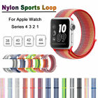 For Apple Watch 4 3 2 1 38/42mm Nylon Sports Loop iWatch Band Stripe Wrist Strap image