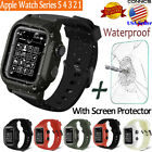 Apple Watch Series 5 4 3 2 1 42 44 mm Waterproof Soft Silicone Band Case Cover image