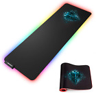 LUXCOMS RGB Soft Gaming Mouse Pad Large, Oversized Glowing Led Extended Mousepad