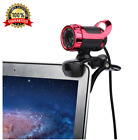 USB Webcam HD 1080p Camera Web Cam MIC Clip-on for Computer Laptop
