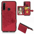Floral Leather Strap Card Slot Stand Case Cover For Xiaomi Redmi Note 8 Pro 8A
