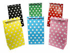 12 Polka Dot Paper Bags - Choose From 6 Colours - Party Gift Spotty Treat Sweet