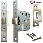 Lince L8893-50 Mortice Bathroom Locking Latch 8mm and 5mm Spindle With Strike