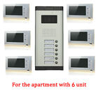 Apartment Wired Video Door Phone with photo shooting Audio Visual Entry Intercom