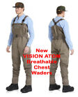Vision NEW ATOM Stockingfoot Breathable Chest Waders Highest Quality Great Value
