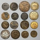 19TH CENTURY GREAT BRITAIN ADVERTISING COINS TOKENS