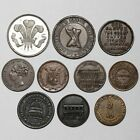 19TH CENTURY GREAT BRITAIN IRELAND FRANCE ADVERTISING COINS TOKENS