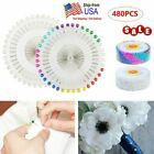 480pcs Straight Pins W/ Pearlized Ball Head For Sewing Quilting Decoration