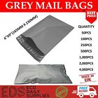 Grey Mailing Bags Strong Postal Postage Post Self Seal All Quantities- 6 x 9