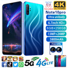 Uk Note10 Pro 6.7'' Full Frop Screen 8+256g Android 10.0 Smart Mobile Phone Nsp