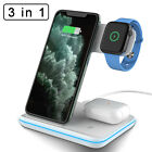 3in1 Qi Wireless Charger Charging Station Dock Stand For Airpods 2/iPhone/iWatch