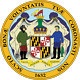 Maryland State Seal Round Mouse Pad  (8 diameter)