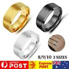 8mm Polished Titanium Steel Men Women Wedding Ring Comfort Band Collections
