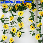 4Pack 7.2ft Artificial Sunflower Garland Fake Flowers Silk Leaf Plant Home Decor