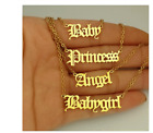 New Old English Stainless Steel Babygirl Angel Princess Necklace  Uk Stock!