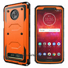 For Motorola Moto Z3/Play Case Hard Armor Shockproof Silicone Hybrid Phone Cover