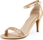 Dream Pairs Women'S Jenner Ankle Strap Stilettos Low Heels Pumps Sandals Dress S