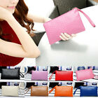 Women Pu Leather Long Design Coin Wallet Purse Day Clutches Phone Cash Hand Bag