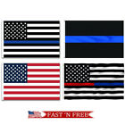 3x5 Ft Us Police Thin Blue Line American Flag Support Police & Law Enforcement
