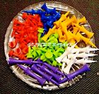 CASTLE  GOLF TEES PLASTIC    ASSORTED SIZES AND COLOURS  FREE U.K. P