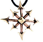 Large the Chaos Star Chaos Star Bronze pendant Amulet Fantasy Larp Magic No.