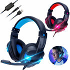 3.5mm Gaming Headset Mic Headphones Stereo Surround For PC PS4 Xbox ONE iPad