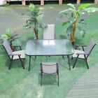 Patio Round/rectangle Glass Table Or Chairs Set Garden Furniture Parasol Base