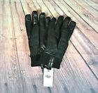 NWT MEN UGG QUILTED SLL WEATHER GLOVE BLACK SHERPA RIBBED CUFF SZ S/M, L/XL