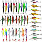 Mixed Hard Fishing Lures Set Crankbaits Minnow Lure Bass Tackle with Treble Hook