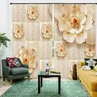Pale Pink Pearly Flowers 3D Blockout Photo Print Curtain Fabric Curtains Window