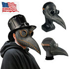 Long Nose Plague Doctor Full Face Mask Steampunk Halloween Costume Masquerade US